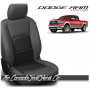 2009 - 2021 Dodge Ram DS Black and Graphite Custom Leather Seat Kits