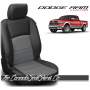 2009 - 2021 Dodge Ram DS Black and Charcoal Custom Leather Seat Kits