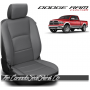 2009 - 2021 Dodge Ram DS Black and Grey Custom Leather Seat Kits