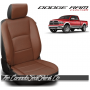 2009 - 2021 Dodge Ram DS Black and Mahogany Custom Leather Seat Kits