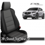 2013 - 2016 Mazda CX5 Black and Charcoal Custom Leather Seats