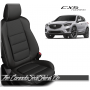 2013 - 2016 Mazda CX5 Black and Charcoal Piped Custom Leather Seats