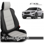 2013 - 2016 Mazda CX5 Black and Pearl Custom Leather Seats