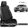 2013 - 2016 Mazda CX5 Black and Silver Custom Leather Seats
