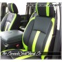 2013 - 2022 Dodge Ram DS Limited Edition Black Leather with Screaming Green Wings Front