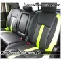 2013 - 2021 Dodge Ram DS Limited Edition Black Leather with Screaming Green Wings Rear