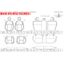 2013 - 2017 Subaru Crosstrek Leather Interior Schematic