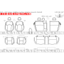 2014 - 2017 Subaru Crosstrek Leather Interior Schematic