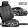 2015 - 2020 F150 Black and Stone Grey Limited Edition Saddleback Leather Upholstery