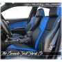 2015 - 2020 Dodge Challenger Custom Zkintech Black Cobalt Blue Leather Seats