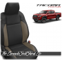 2016 - 2021 Toyota Tacoma Black and Shale Custom Leather Seats