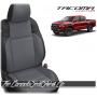 2016 - 2020 Toyota Tacoma Black and Cement Grey Custom Leather Seats