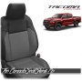 2016 - 2021 Toyota Tacoma Black and Cement Custom Leather Seats