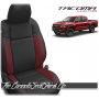 2016 - 2020 Toyota Tacoma Black and Red Custom Leather Seats