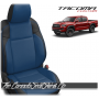 2016 - 2021 Toyota Tacoma Black and Pacific Blue Custom Leather Seats