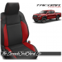 2016 - 2021 Toyota Tacoma Black and Red Wing Custom Leather Seats