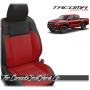 2016 - 2020 Toyota Tacoma Black and Red Designed Custom Leather Seats