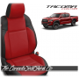2016 - 2020 Toyota Tacoma Black and Salsa Red Custom Leather Seats