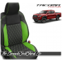2016 - 2021 Toyota Tacoma Lime Diamond Stitched Custom Leather Seats
