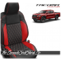 2016 - 2021 Toyota Tacoma Red Diamond Stitched Custom Leather Seats