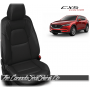 2017 - 2020 Mazda CX5 Sport Custom Black and Silver Leather Seats