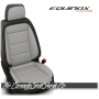 2018 - 2020 Chevrolet Equinox Custom Black and Alabaster Leather Seats