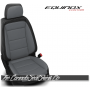 2018 - 2020 Chevrolet Equinox Custom Black and Ash Leather Seats
