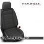 2018 - 2020 Chevrolet Equinox Custom Black and Graphite Leather Seats