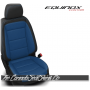 2018 - 2020 Chevrolet Equinox Custom Black and Pacific Leather Seats