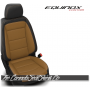 2018 - 2020 Chevrolet Equinox Custom Black and Tan Leather Seats