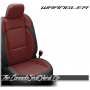 2018 - 2020 Jeep Wrangler Black and Medium Red Katzkin Leather Seats