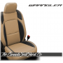 2018 - 2020 Jeep Wrangler JL Tan and Black Katzkin Leather Seats