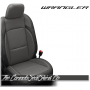 2018 - 2020 Jeep Wrangler Black and Charcoal Grey Katzkin Leather Seats