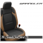 2018 - 2020 Jeep Wrangler Teak and Black Katzkin Leather Seats