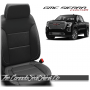 2019 - 2021 GMC Sierra Black with Silver Custom Designer Leather Seats