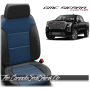 2019 - 2021 GMC Sierra Pacific Blue Body Custom Designer Leather Seats