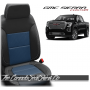 2019 - 2021 GMC Sierra Pacific Blue Insert Custom Designer Leather Seats