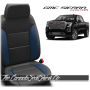 2019 - 2021 GMC Sierra Pacific Blue Custom Designer Leather Seats