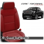 2019 - 2021 GMC Sierra Black Cardinal Custom Designer Leather Seats