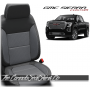 2019 - 2021 GMC Sierra Charcoal Custom Designer Leather Seats