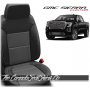 2019 - 2021 GMC Sierra Black Charcoal Custom Designer Leather Seats