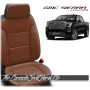 2019 - 2021 GMC Sierra Cognac Custom Designer Leather Seats