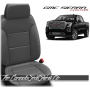 2019 - 2021 GMC Sierra Grey Custom Designer Leather Seats