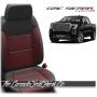 2019 - 2021 GMC Sierra Custom Medium Red Combo and Wing Leather Seats