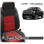 2019 - 2021 GMC Sierra Salsa Red Combo Custom Designer Leather Seats