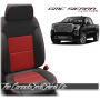 2019 - 2021 GMC Sierra Salsa Red Inserts Custom Designer Leather Seats