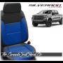 2019 - 2021 Silverado Katzkin Black and Cobalt Blue Combo and Wing Design