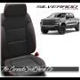 2019 - 2021 Silverado Katzkin Black and Red Stitching Leather Seats