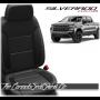 2019 - 2021 Silverado Katzkin Black Carbon Leather Seat Design