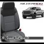 2019 - 2021 Silverado Katzkin Black and Light Grey Leather Seats